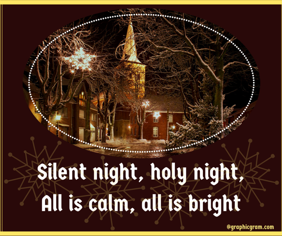 Silent night, holy night,All is calm, all is bright (2)