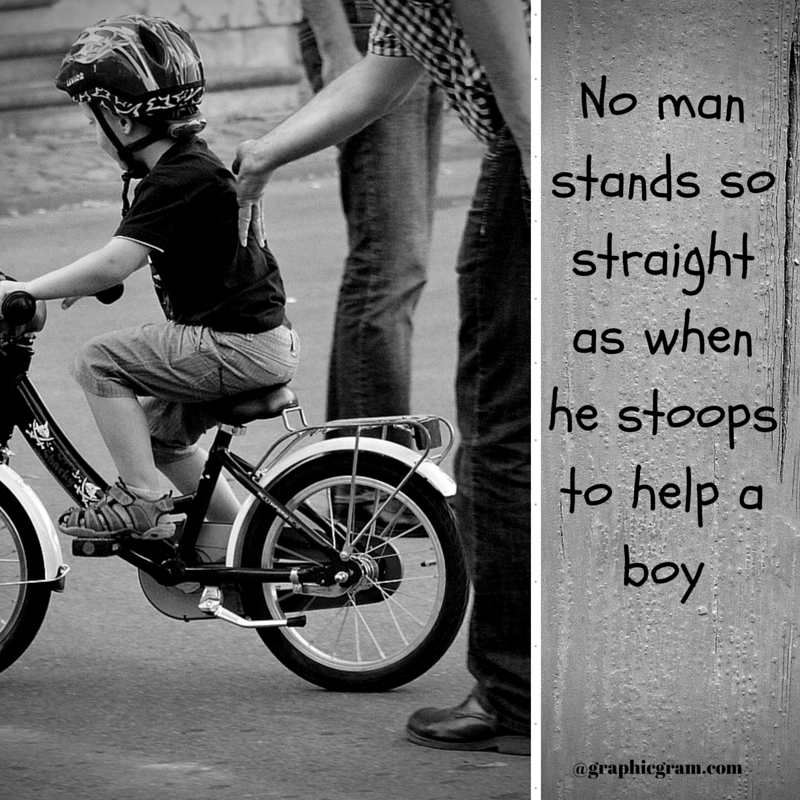 No man stands so straight