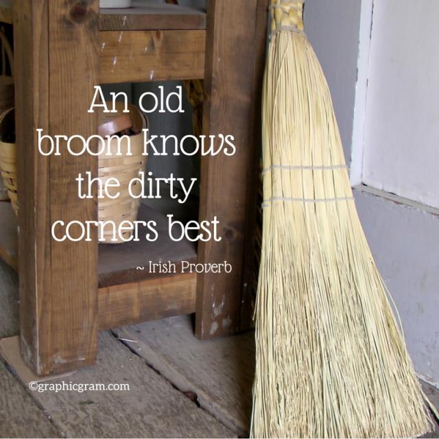An old broom